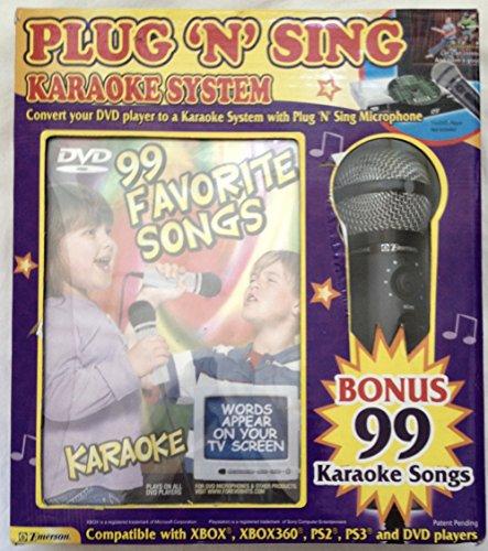 - Emerson Plug 'n Sing Karoke System with Microphone ~ 99 Favorite Songs!
