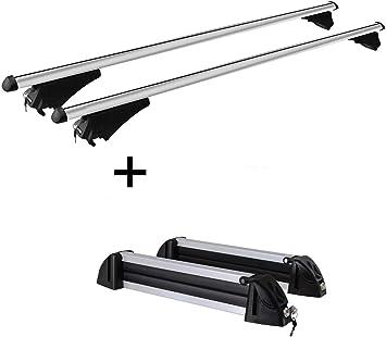 vdp - Portasci Tiger XL + portasci, Supporto per Snowboard, 6 Paia