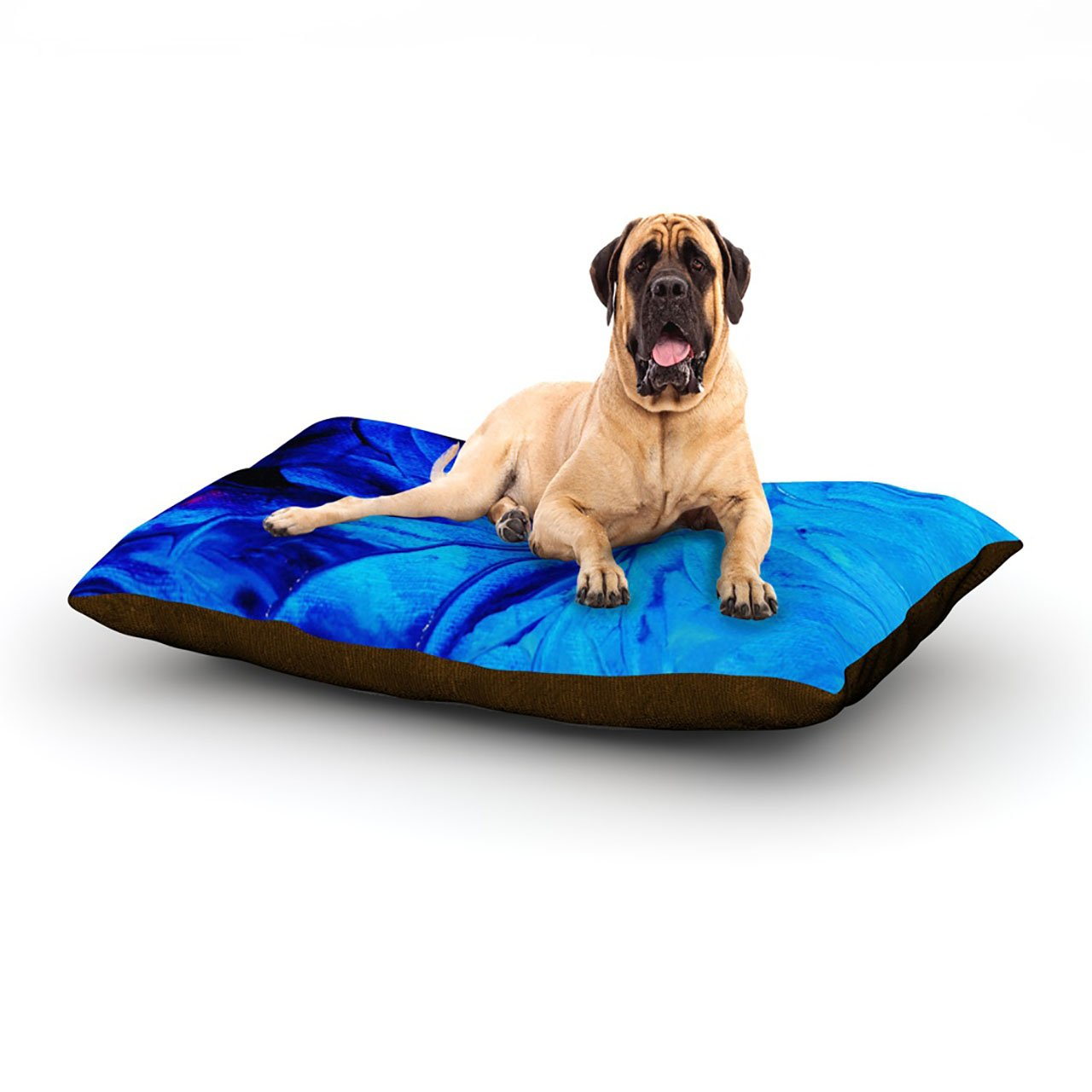 X-Large 40\ Kess InHouse Ebi Emporium Reach for The Stars  Pink Teal Dog Bed
