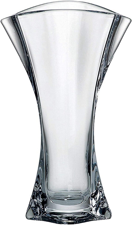 RANOLDI DR.GIANFRANCO S.R.L 33 CM Raffinato E Moderno Vaso in Cristallo Boemia Trasparente