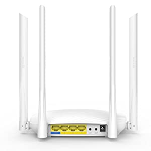 Tenda 600Mbps Whole-Home Coverage WiFi Router with 4x 6dBi High-gain Omnidirectional Antennas/Beamforming+/Easy Setup/App Control (F9)