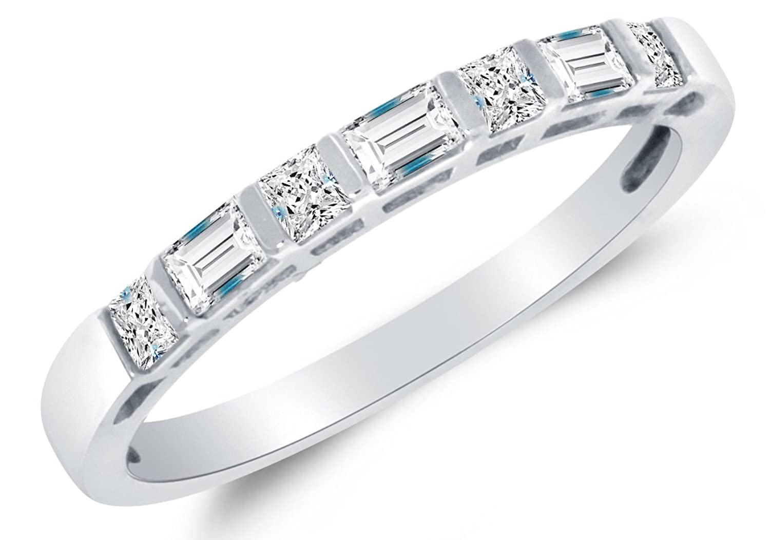 platinum set zoom in diamond bands band channel eternity princess