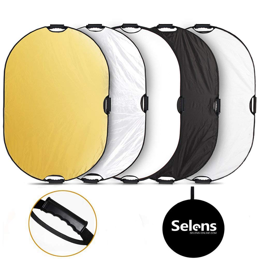 Selens 5-in-1 32x48 Inch Oval Reflector with Handle for Photography Photo Studio Lighting & Outdoor Lighting by Selens