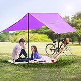 Homgrace Multi-Functional Waterproof Rain Poncho, Sunshade Tarp, Ground Mat for Outdoor Activities