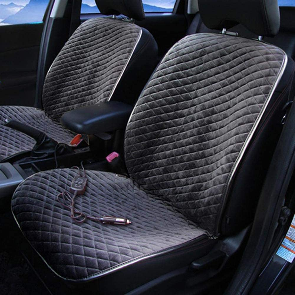 Heated Seat Cover,12V Car Seat Heater Infrared Heated Cushion Warmer with 3 Levels Heating for Car Truck Home Office