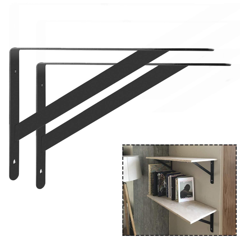 90 Grad Winkel 4 St/ück schwarz Starvast Regalhalterung robust Wandmontage