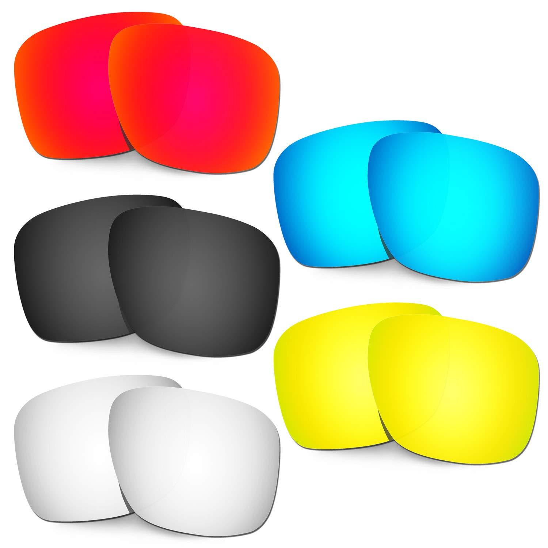 HKUCO 強化する交換用レンズ Oakley Holbrook XL OO9417 赤/ブルー/ブラック/24 Kゴールド/チタン サングラス   B07RNDG7D1