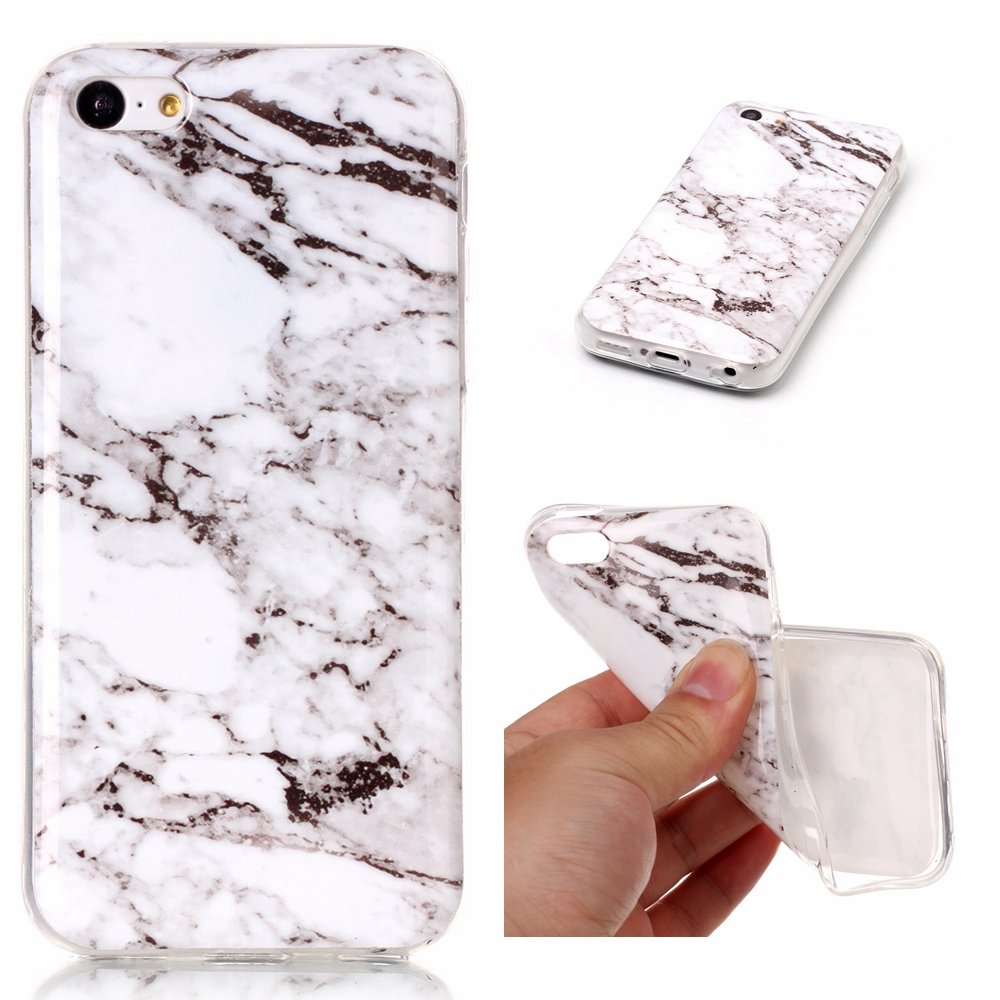 NEXCURIO iPhone 5C Case Soft Marble Silicone Shockproof Scratch Resistant Protective Cover for Apple iPhone 5C - YHU102469#6