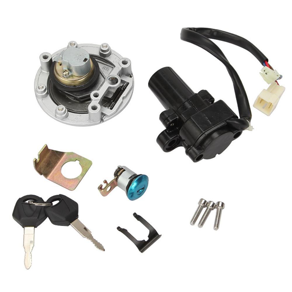 INNOGLOW Motorcycle Ignition Switch Key Fuel Gas Cap Tank Cover Kit Seat Lock Key Set For Yamaha YZF R1 R6 R6S FZ6 FJR1300