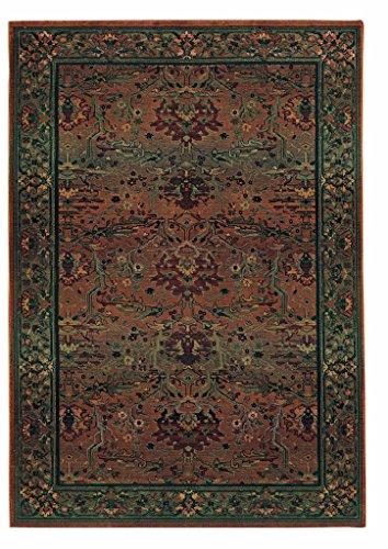 Oriental Weavers Kharma 465 Area Rug Green / 2' x 3' Rectangle