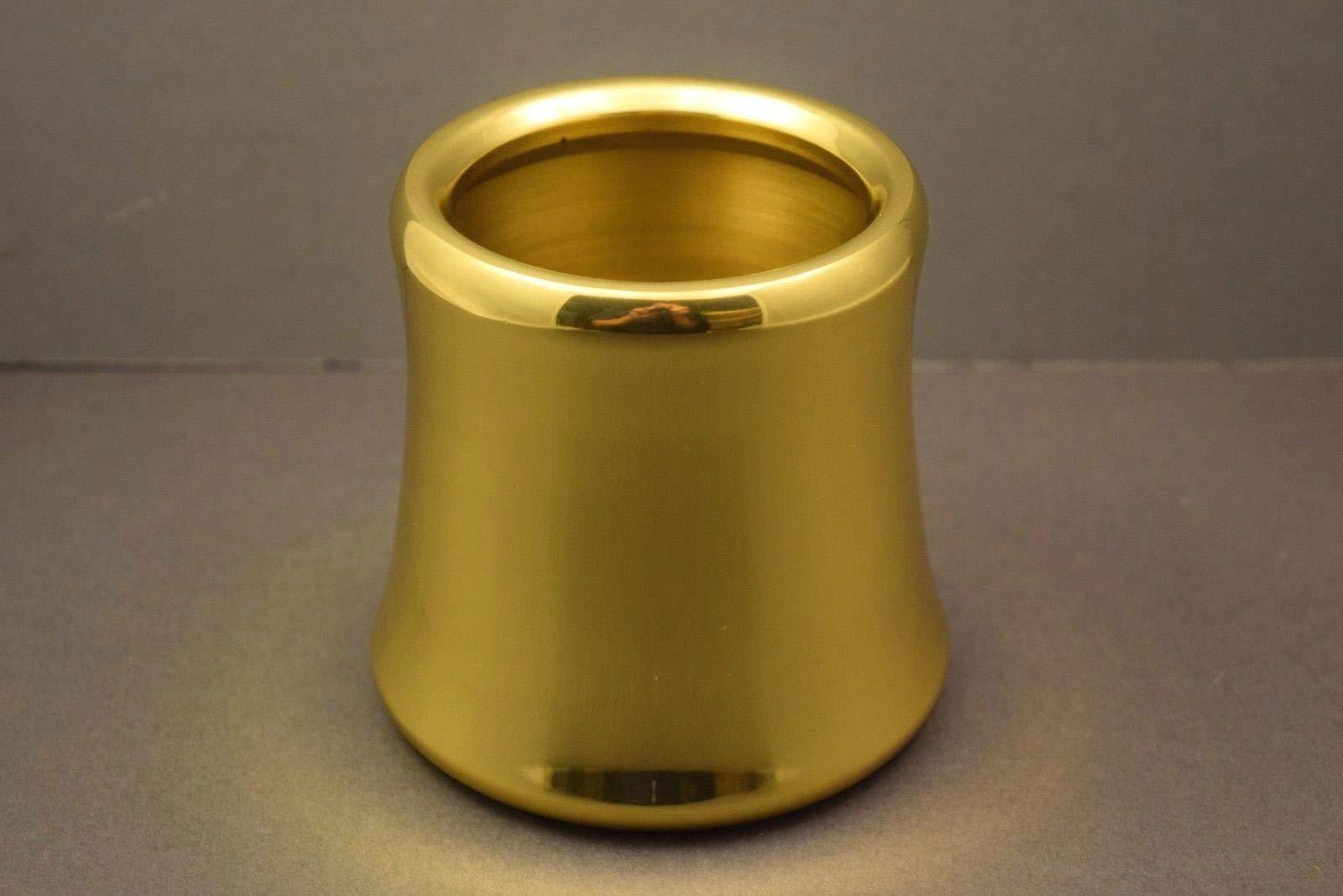 Single 3'' Diameter Church Paschal Candle Follower - Polished Brass