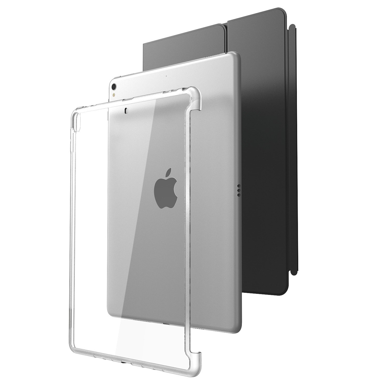 All New iPad Pro 10.5 Case, i-Blason [Compatible with Official Smart Cover and Smart Keyboard] Clear Hybrid Cover Case [Updated Version] for Apple iPad Pro 10.5 inch 2017 Release (Clear)