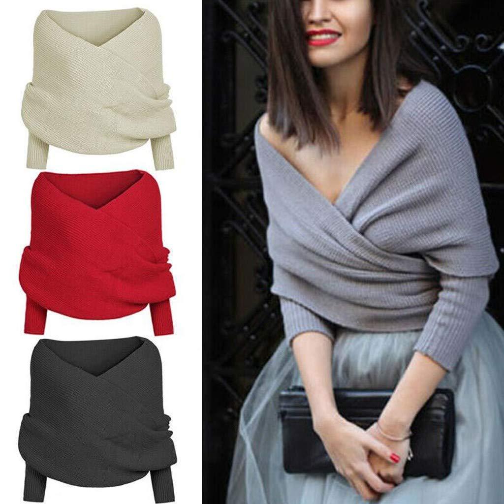 Women Knit Sweater Tops...