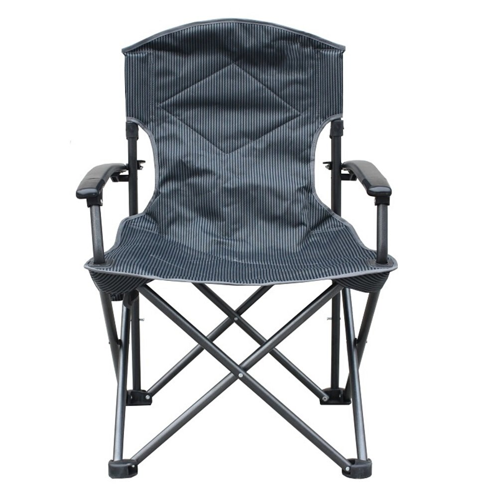 ベンチ キャンプチェア家庭用屋外ポータブルアルミ合金軽量背もたれ折りたたみチェア釣りバーベキューサンディービーチチェアブラック (A++)   B07DKHV62D