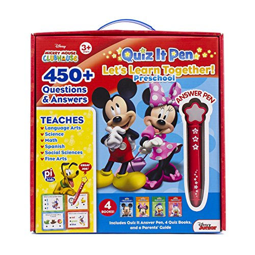 Book cover from Disney - Mickey and Minnie Mouse Quiz It Pen Preschool Lets Learn Together Set - PI Kids by Editors of Phoenix International Publications