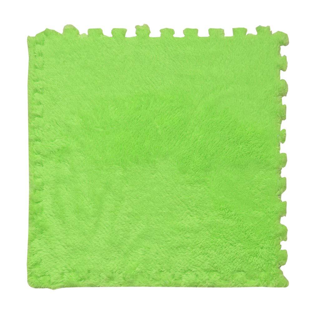 SXXDERTY-tappeto Alfombras de Espuma de Enclavamiento DIY Alfombra Caliente para Ejercicio Yoga Niños Estera de Arrastre Seguridad Antideslizante 60 CM 4 Piezas (Color : #1)