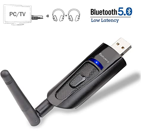 Friencity Bluetooth 5.0 Adaptador de transmisor de audio, adaptador inalámbrico USB Dongle para PC TV Estéreo en el hogar Par a auriculares Bluetooth Altavoces,3.5 mm Aux, Dual Link aptX LL, Plug&Play: Amazon.es: