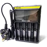 Nitecore D4 Universal Smart charger with Digital LCD screen for 18650/26650/17500/14500 Batteries