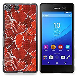 For Sony Xperia M5 - Paper Heart Pattern Dise???¡Ào Protecci????n Cubierta de la caja ultra delgada de Snap de pl????stico duroco duro - God Garden -