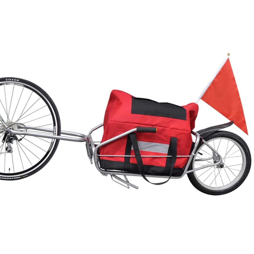 Chloe Rossetti One-wheel Bicycle Cargo Trailer with Storage Bag Trailer maximum load: 88 lb