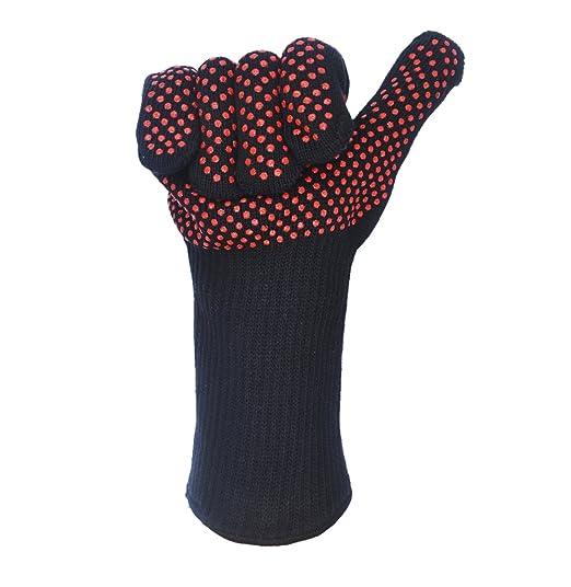 Silicona Horno guantes para barbacoa guante resistente al calor ...