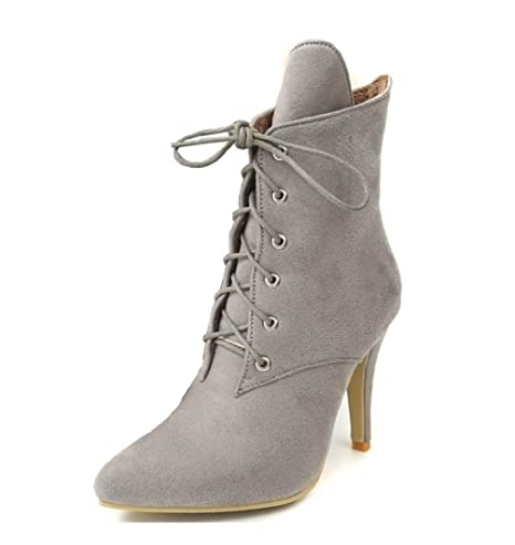 Botas de mujer Zapatos de invierno Tacones altos Moda Leopard Botines del dedo del pie puntiagudo