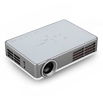 Excelvan LED-9 - Mini proyector portátil (Android 4.4, 1280x800, 1080p, RGB LED,3000 Lumenes, 16:10, HDMI VGA USB AV TV), Blanco