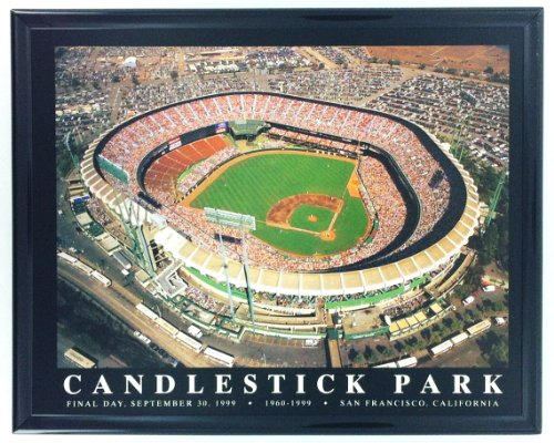Giants Stadium Aerial - Framed SF Giants Aerial Candlestick Park Flinal Day Stadium Print Wall Art