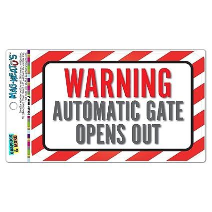 Advertencia automática (TM) de la puerta se abre mag-neato vinilo ...