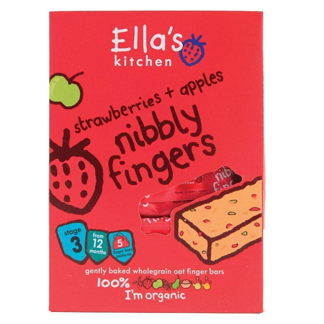 Ella's Kitchen | Nibbly Fingers - Strawb/Apple | 5 x 5 x 25g Ella' s Kitchen