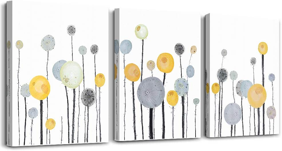 Abstract watercolor painting 3 Piece framed Canvas Wall Art for living room bathroom Wall Decor Canvas Prints Office kitchen wall Artwork Home Decor Abstract Flowers Pictures bedroom wall Decorations