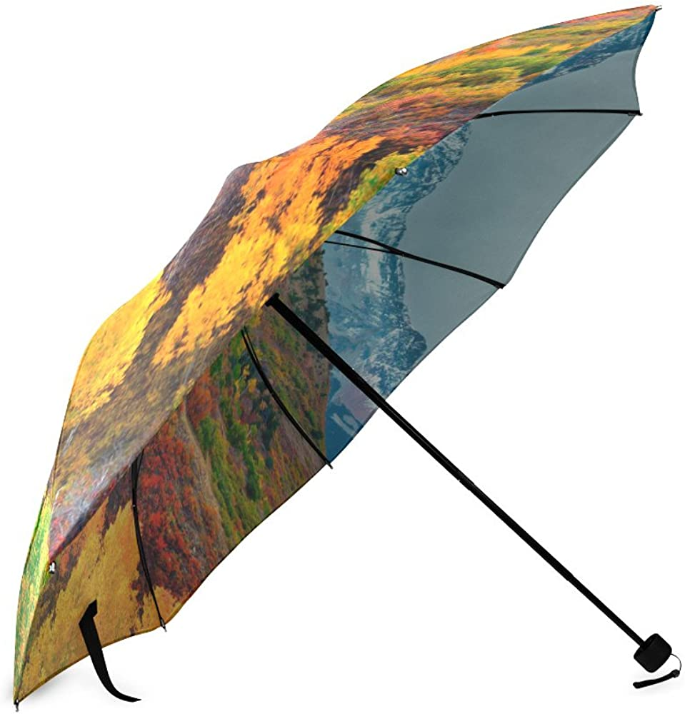 Umbrella Forest Custom Umbrella Automatic Folding Umbrella Rainproof /& Windprrof