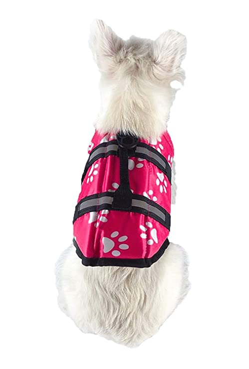 XS Yellow Vivaglory New Sports Style Ripstop Dog Life Jacket with Superior Buoyancy /& Rescue Handle