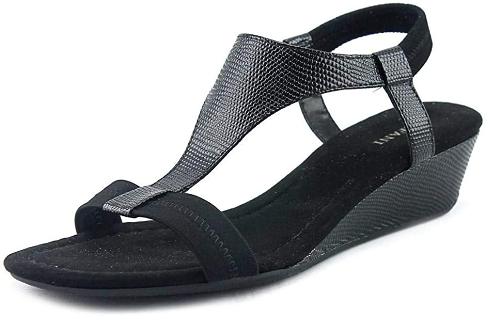 Size 9.0 Alfani Womens Genevia Open Toe Casual Slingback Sandals Pewter