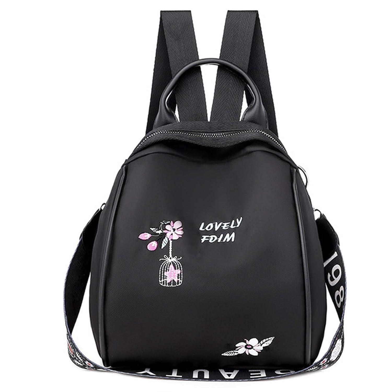 ZYSTMCQZ Kvinnor ryggsäckar för tonåringar flickor Oxford broderi tryck skola axelväskor resa vardaglig ryggsäck (färg: Kaki) Khaki
