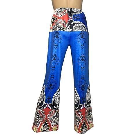 Kingwo De la Mujer Amplia Pierna Pantalones ed2c67244e2