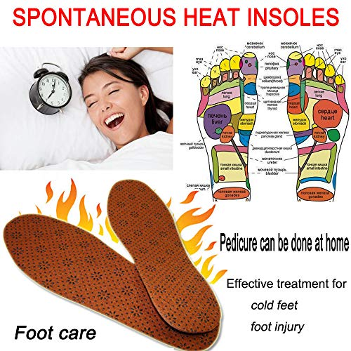 Euone Foot Pad Clearance ‼ , Spontaneous Heat Magnetic Massage Shoe Insoles Pad Therapy Acupressure Foot Care Cushion