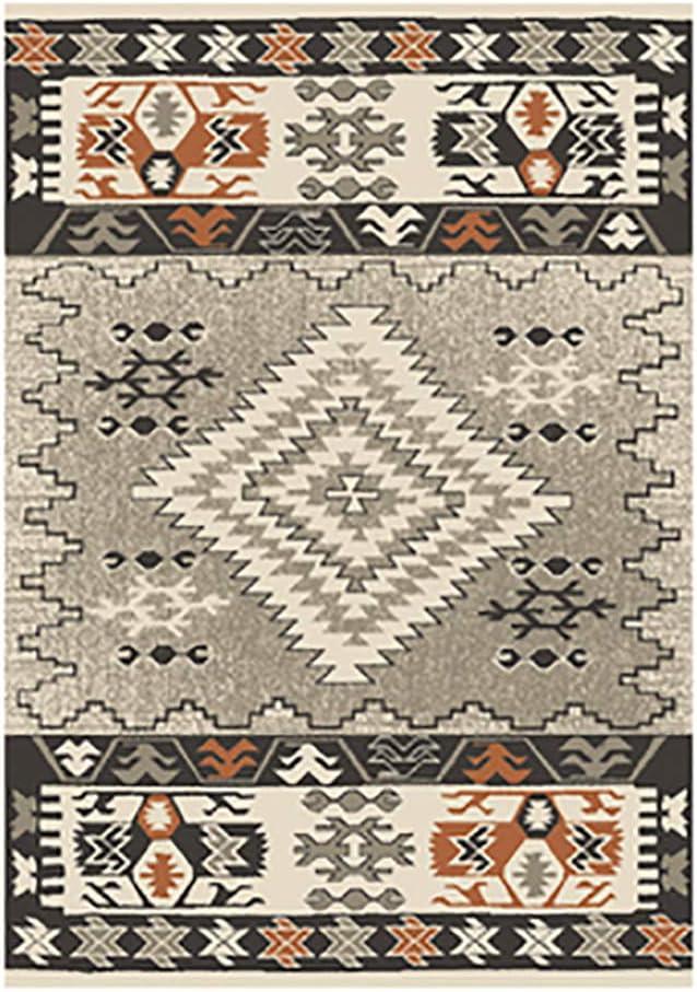 Printed Area Rug, Retro Runner Rug Anti-Slip Chic Floor Carpet Rectangular Washable Multicolor for Bedroom Living Room-f 79x118inch(200x300cm)