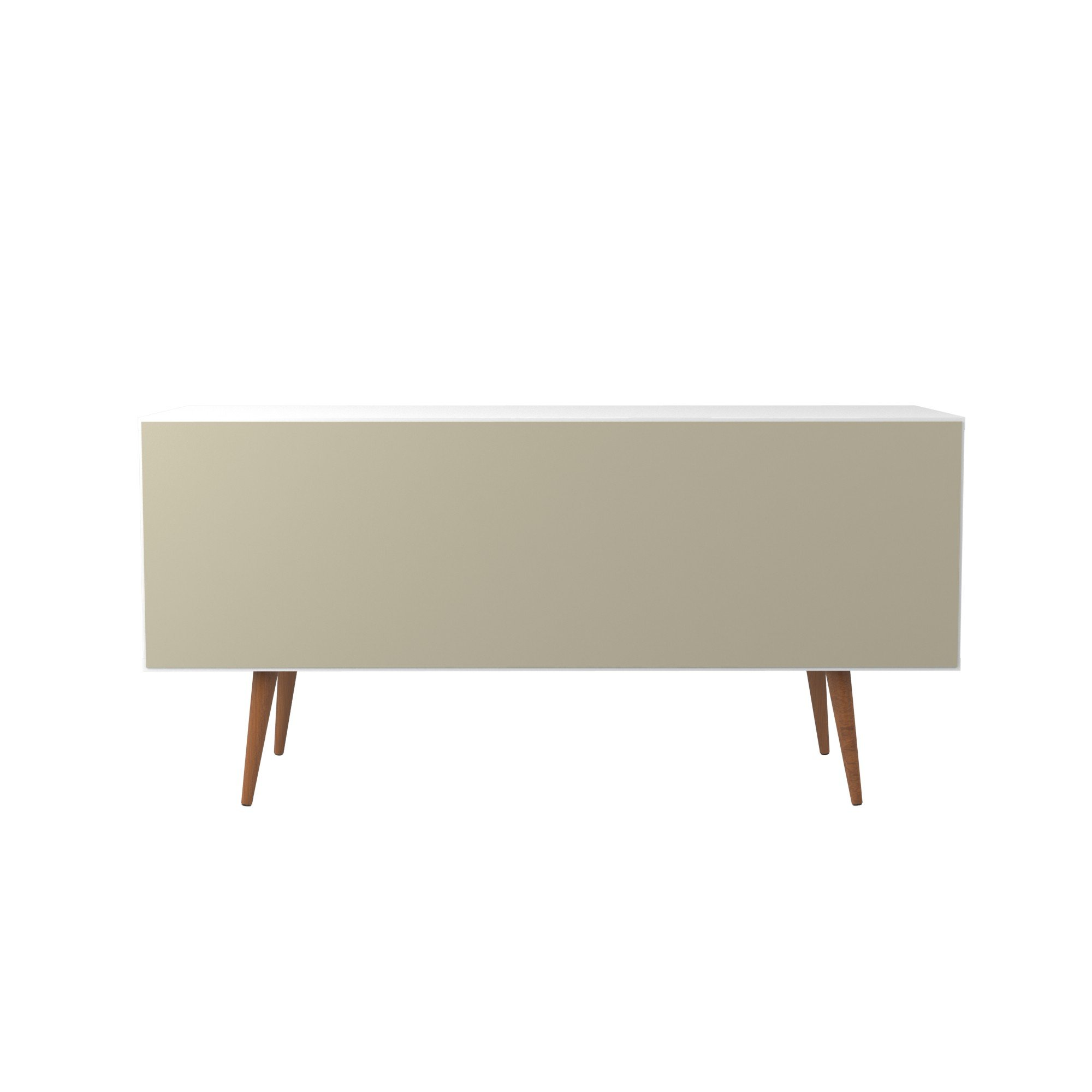 Manhattan Comfort Utopia Collection Mid Century Modern Sideboard Buffet Stand With 4 Bottle Wine Rack, Cabinet and 3 Drawers, Splayed Legs, White by Manhattan Comfort (Image #8)