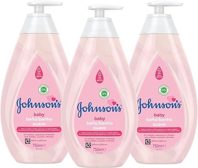 Johnsons Baby Baño Suave, Jabón Líquido Suave y Delicado de Uso Diario para Pieles Sensibles - 3 x 750 ml: Amazon.es: Belleza