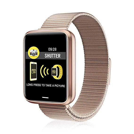 Amazon.com: Chriffer Smart Watch, IP67 Waterproof Smartwatch of Milanese Loop with All-Day Heart Rate & Blood Pressure Monitor, Running GPS Tracker Sport ...