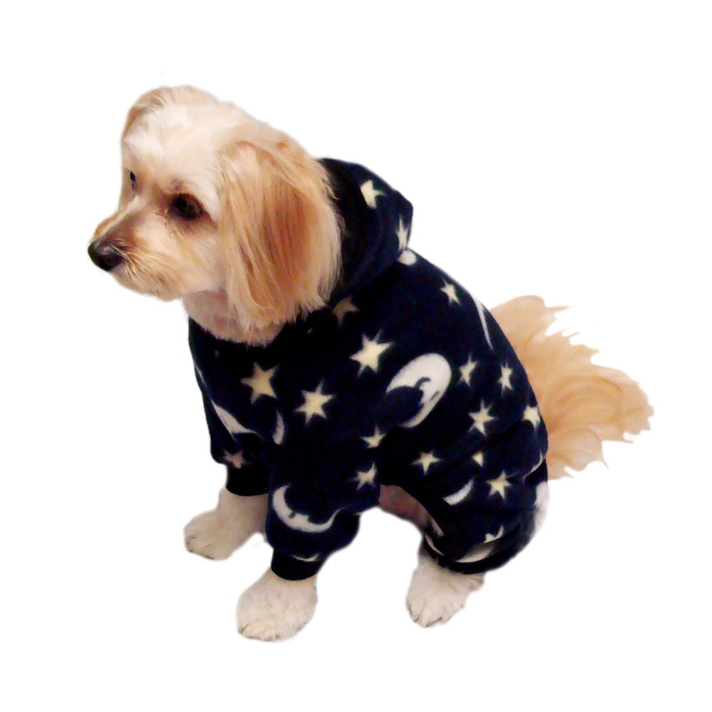 Pedigree Perfection SP119-26-NVY Weather Master- Navy Moon Polarctic Fleece Snow Suit for Your Dog, 26-Size