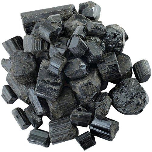 (rockcloud 1 lb Natural Crystals Raw Rough Stones for Cabbing,Tumbling,Cutting,Lapidary,Polishing,Reiki Crytsal Healing,Black Tourmaline Large Size)