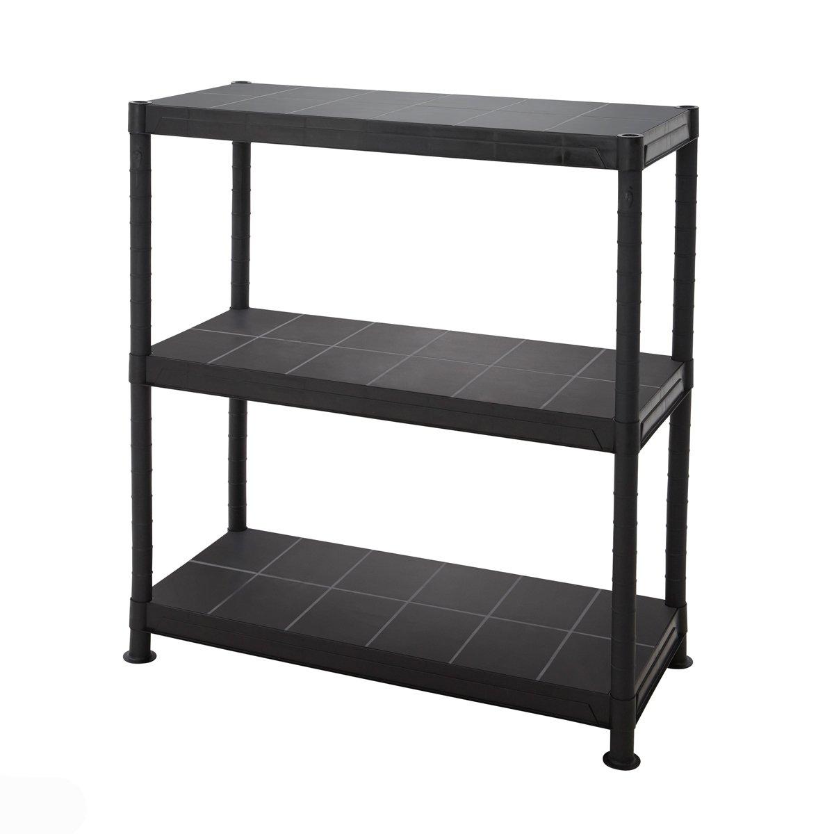 Tiered plastic garage shelving storage unit ventilated garden shelves 4 sizes available bigdug