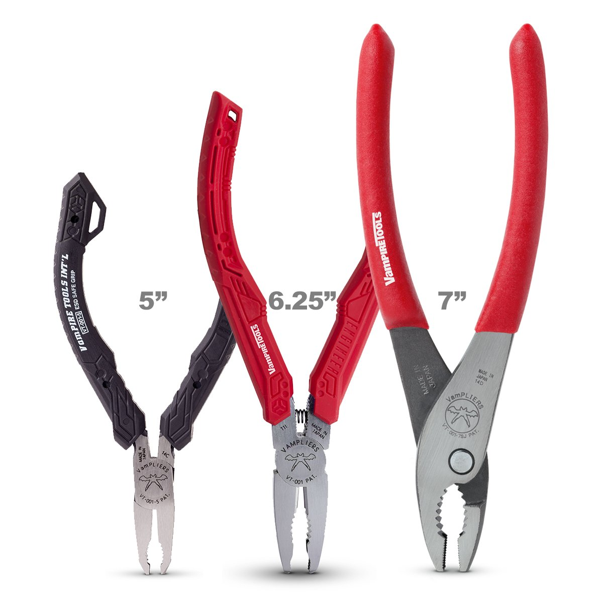 VAMPIRE PROFESSIONAL TOOLS VamPLIERS Best Made Pliers! 3-PC Set S3A Specialty Screw Extraction Pliers. Extract Stripped Stuck Security, Corroded, or Rusted Screws