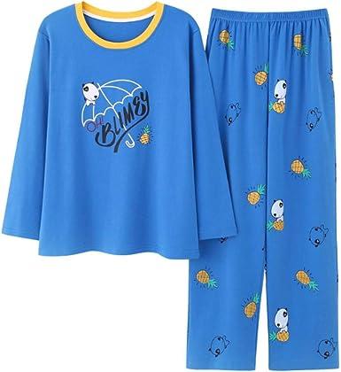 Pijamas para Mujer, Señoras Pijama Algodón Perro De Dibujos Animados Ropa De Dormir Niña Manga Larga Y Pantalones Pjs Conjunto De Ropa De Dormir De Gran Tamaño XL: Amazon.es: Ropa y accesorios