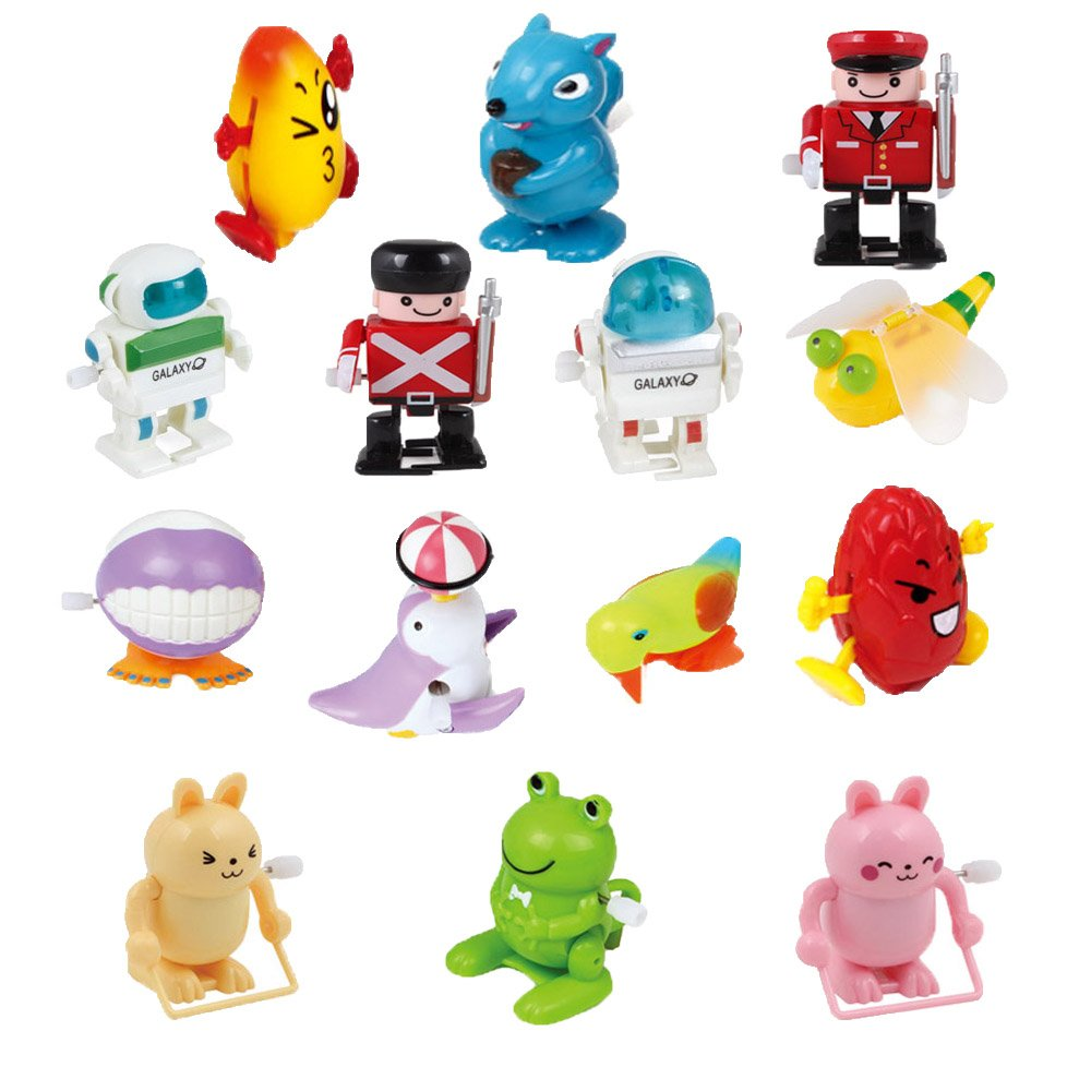Ymiss 14pcs Wind Up Assorted Toys for Kids Gift and Adults Played in Office Table by Ymiss (Image #3)