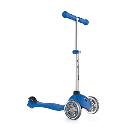 Globber 3 Wheel Adjustable Height Scooter Dark Blue