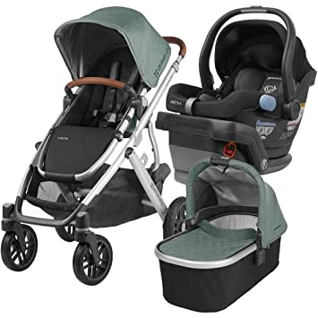 UPPAbaby Full Size Vista Infant Baby Stroller MESA Car Seat Bundle Emmett