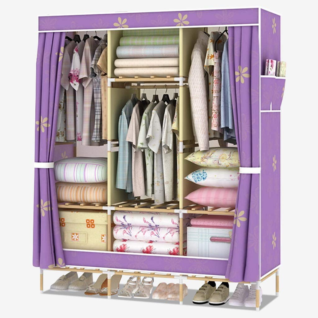 C Xiao Jian Cloth Wardrobe Easy Assembly Storage Clothes Locker Wardrobe Large Oxford Cloth Wardrobe (color   A)